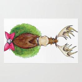 Christmoose for Christmas Rug