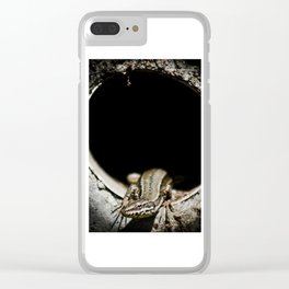 Exit of lizard devil Clear iPhone Case