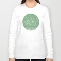 bokeh Long Sleeve T-shirts featuring Seafoam bokeh by Laura Ruth