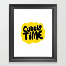 cuddle time Framed Art Print