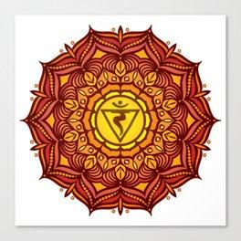 Solar Plexus Mandala Chakra #01 Canvas Print