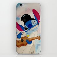 stitch iPhone & iPod Skins featuring Stitch by Goolpia