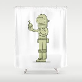 Zulu The Last Interdimensional Time and Space Explorer Shower Curtain