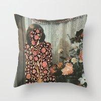 karen Throw Pillows featuring Karen by Mariano Peccinetti