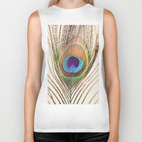 peacock Biker Tanks featuring Peacock by Laura Ruth