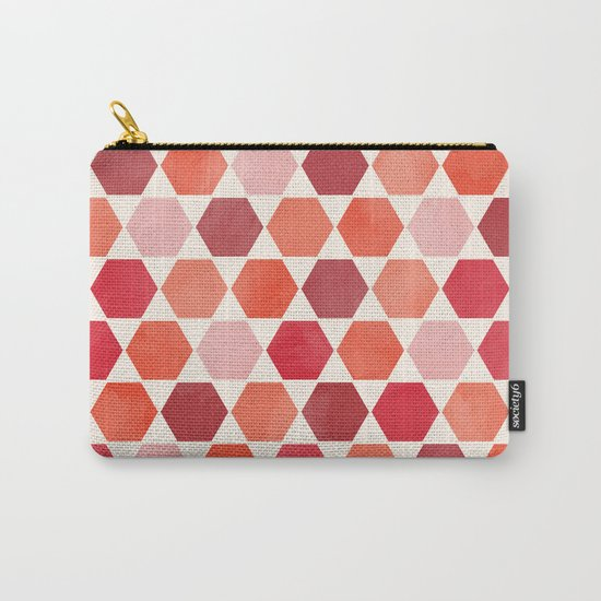 Red Tiles Carry-All Pouch