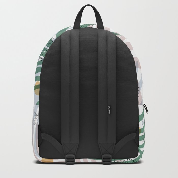 abstract leaf pattern Backpack