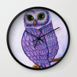 The Quizzical Owl Wall Clock
