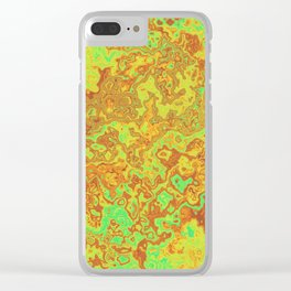 Vibrant Swirls Clear iPhone Case