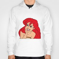 little mermaid Hoodies featuring Little Mermaid by Nicky Severein