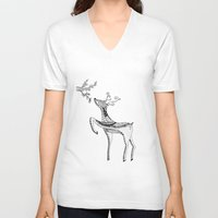 bambi V-neck T-shirts featuring Bambi by Moran Bazaz