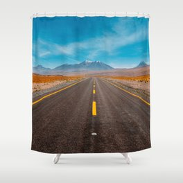 Straight Ahead Shower Curtain