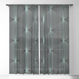 Geometric Orb Pattern XVI Sheer Curtain