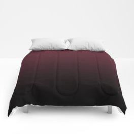 Burgundy Wine Ombre Gradient Comforters