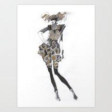 Fashion sketches in pencil Art Print
