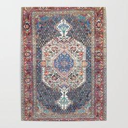 Bakhtiari Central Persian Rug Print Poster