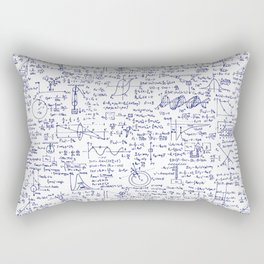 Physics Equations in Blue Pen Rectangular Pillow