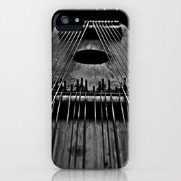 Ukelin Strings B&W iPhone Case