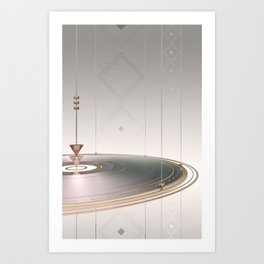 Disc and shapes Art Print