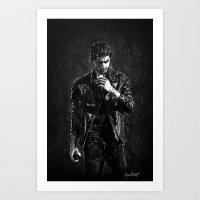 cyrilliart Art Prints featuring Wet Zayn by Cyrilliart