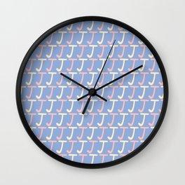 Lettering J Pattern Wall Clock