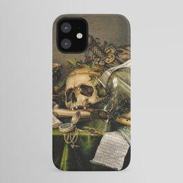 Vintage Vanitas- Still Life with Skull iPhone Case