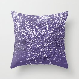 Sparkling ULTRA VIOLET Lady Glitter #1 #shiny #decor #art #society6 Throw Pillow