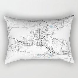 Thousand Oaks City Map of California, USA - Circle Rectangular Pillow