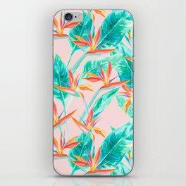 Birds of Paradise Blush iPhone Skin
