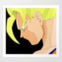 goku Art Prints featuring Goku by Cat LaCroix