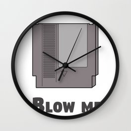 Blow me console Wall Clock