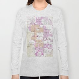 Vintage Map of Palm Springs California (1957) Long Sleeve T-shirt