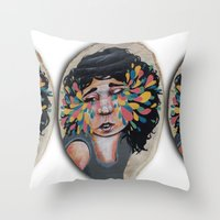 snatch Throw Pillows featuring I See In Color by Ben Geiger