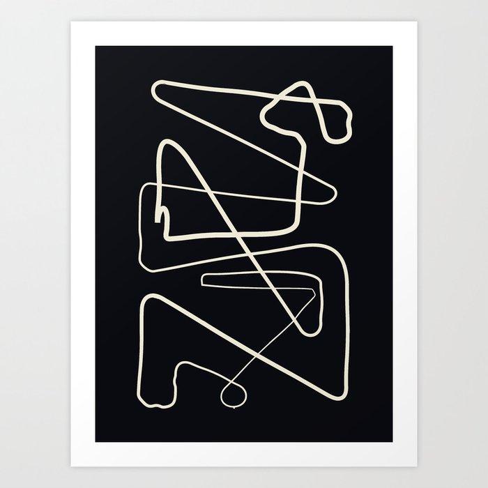 Movements Black Art Print