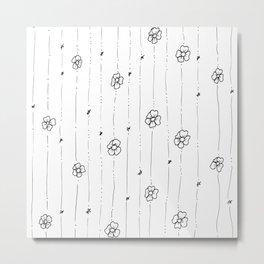 Cute Little Flowers Art Illustration Metal Print