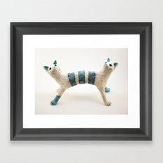 Two-headed Janus Cat Framed Art Print