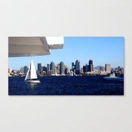 San Diego Skyline and Sailboat Canvas Print