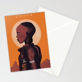 Ethiopia | Vintage Travel Poster | Enhanced Matte Paper perfect for your wall ! Stationery Cards