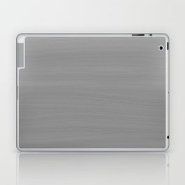 Soft Light Grey Brushstroke Texture Laptop & iPad Skin
