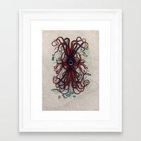cthulu Framed Art Prints featuring Cthulu by Sybille Sterk