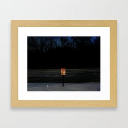 The Ice Be Thin Framed Art Print