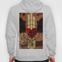 Heart with dragon and wings Hoody