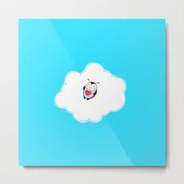 Lil Ladybug Cloud Nap Metal Print