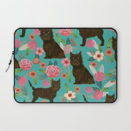 cairn Terrier florals dog pattern dog breed pet friendly gifts for dog person Laptop Sleeve