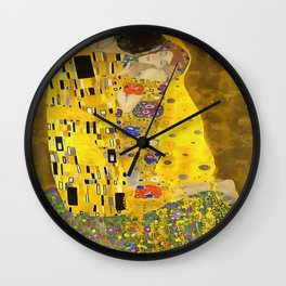 The Lovers Kiss After Klimt Wall Clock