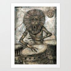 The Blues of Empty Heads Art Print