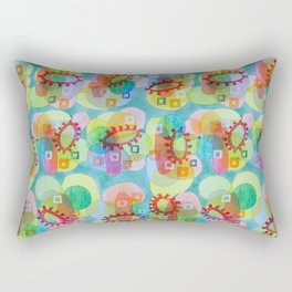 Lovely Pattern with Red Rings Rectangular Pillow