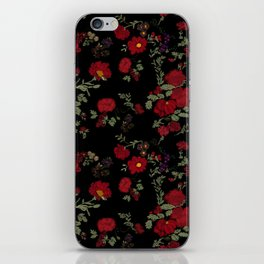 Project 397  Cottage Rose on Black iPhone Skin