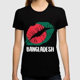 BGD Bangladesh Kiss Lips Tshirt T-shirt