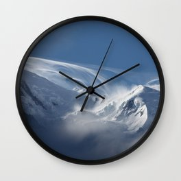 Snow Mont Blanc Mountains Wall Clock